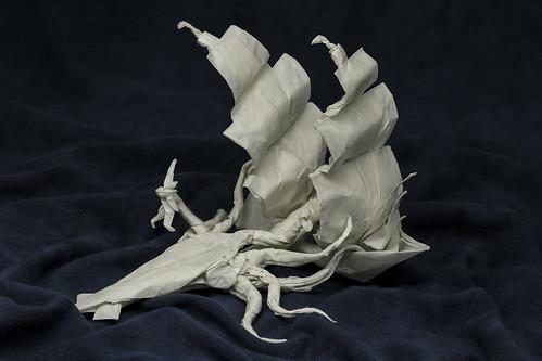 Origami Attack of the Kraken