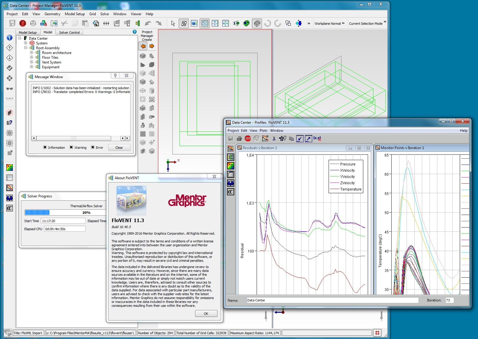 Working with Mentor Graphics Flo-VENT 11.3 full license
