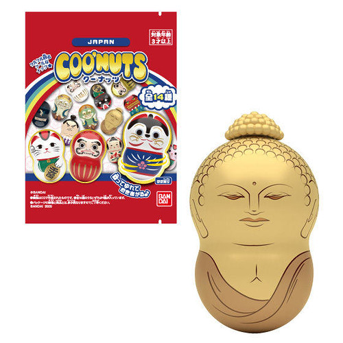 七轉八起日本吉祥物!BANDAI 轉轉花生系列 「COO'NUTS JAPAN」不倒翁食玩 全14款