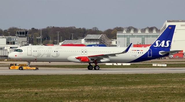 SAS Scandinavian Airlines, D-AVZA, Reg. SE-DMO, MSN 9541, Airbus A 321-253NX, 16.04.2020,  XFW-EDHI, Hamburg Finkenwerder