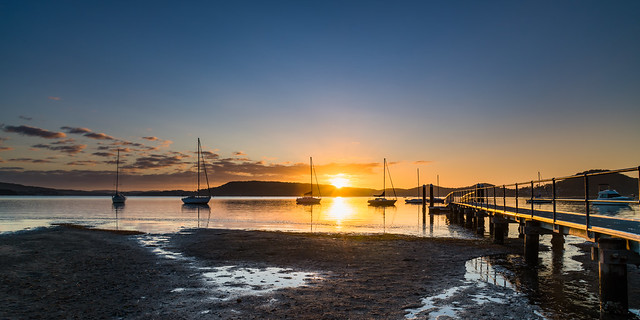 Boats and a Bay Sunrise