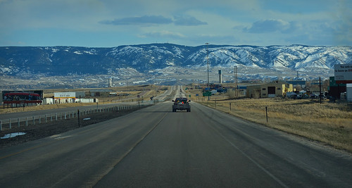 highway road travel interstate casper wyoming landscape mountains clouds i25 outdoors