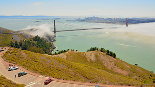 San Francisco & the Golden Gate bridge from the Marin Headlands | by M McBey
