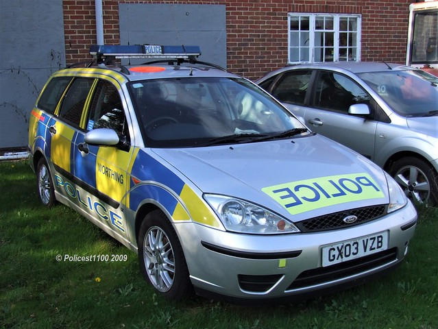 Sussex Police Ford Focus GX03 VZB