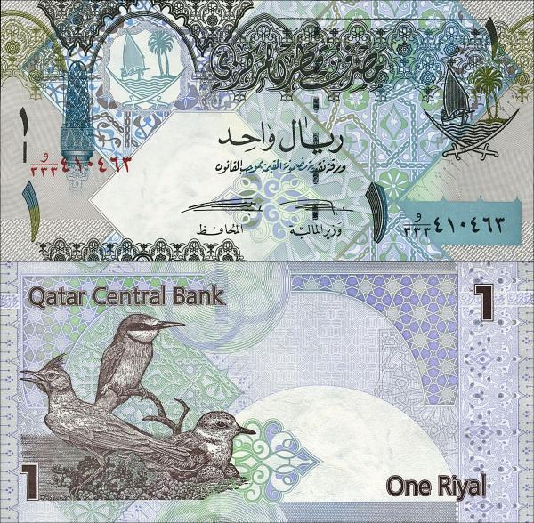 1 katarský rial Katar 2015 P28b