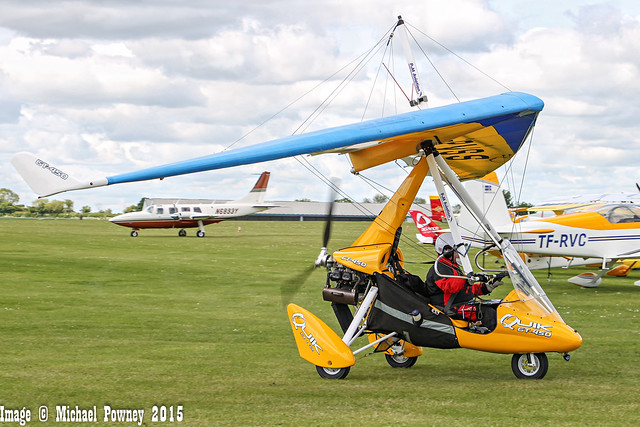 G-PVSS - 2007 build P & M Aviation Quik GT450, taxiing to parking at  Sywell during Aero Expo 2015
