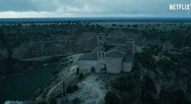 Ermita de San Juan de Frutos en las Hoces del Duratón (Segovia), una de las localizaciones de La Casa de Papel (temporada 3)