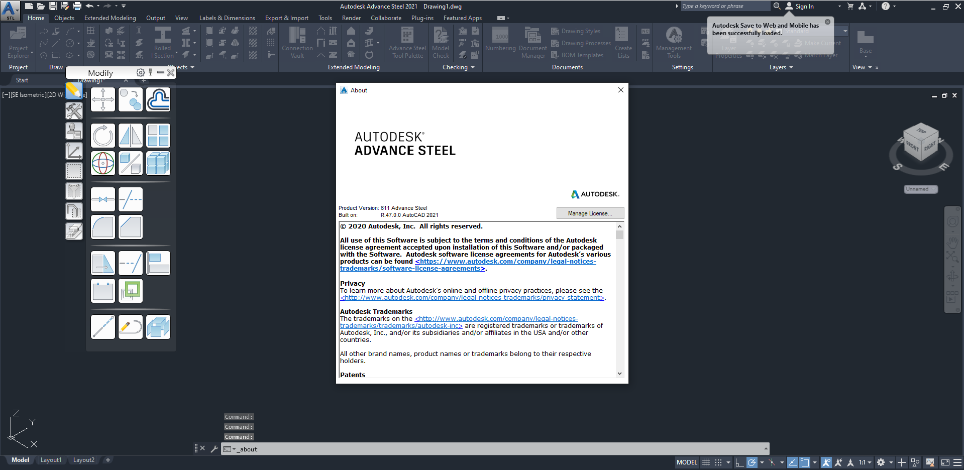 Working with Autodesk Advance Steel 2021 full license