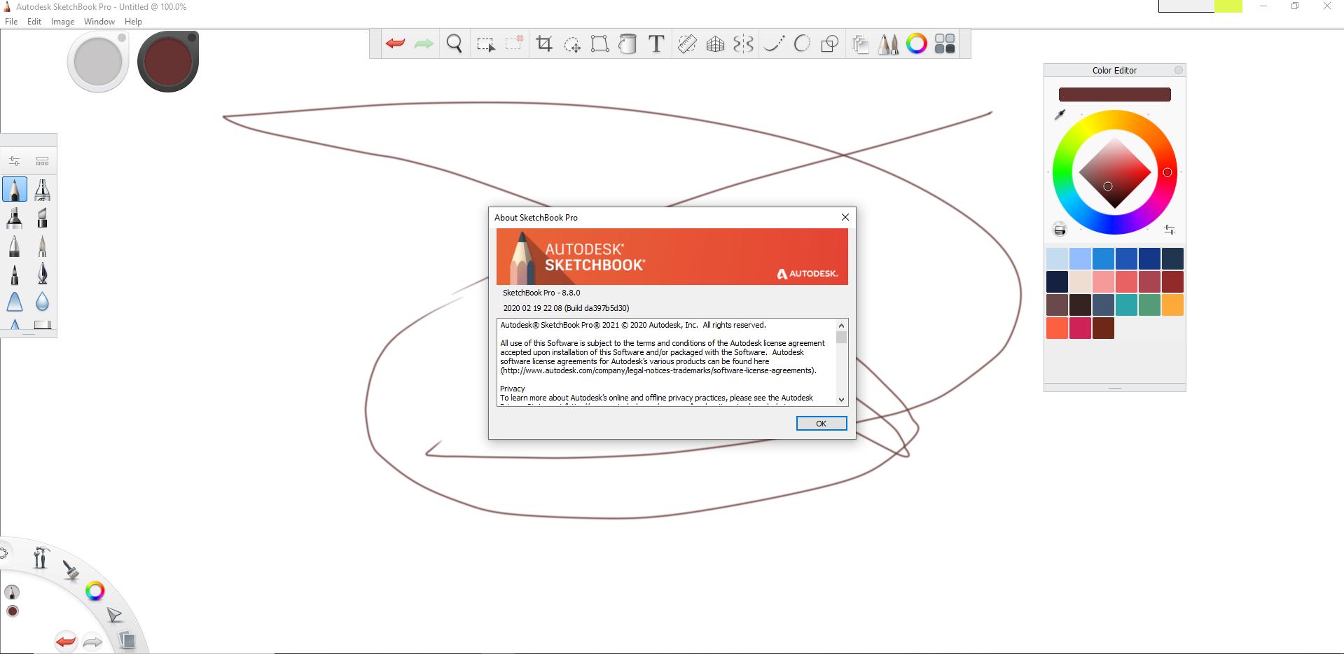 Working with Autodesk SketchBook Pro 2021 v8.8.0 full license