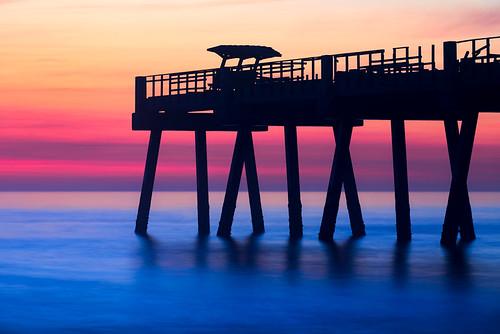 florida jaxbeach jacksonville pier sunrise beach ocean