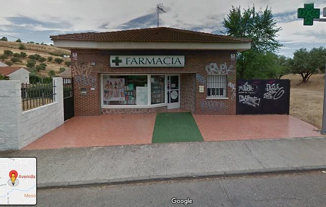 Farmacia de El Casar que aparece en La Casa de papel