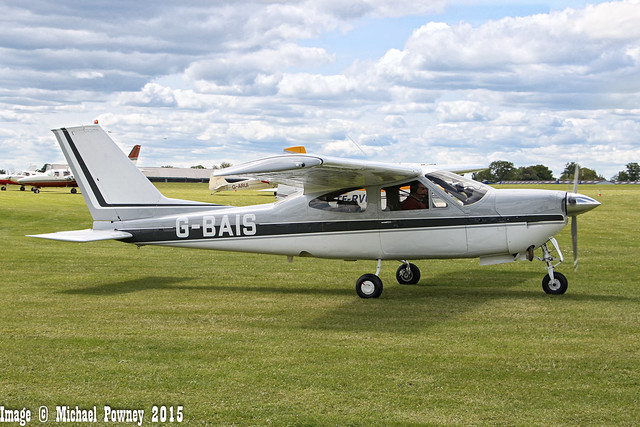G-BAIS - 1973 Reims built Cessna F177RG Cardinal RG, taxiing to parking at Sywell during Aero Expo 2015