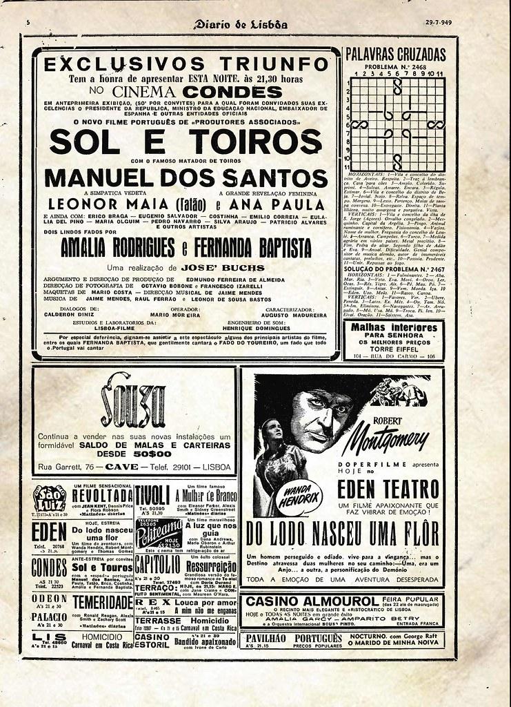 Cinecartaz (Diário de Lisbôa, 29/VII/1949)