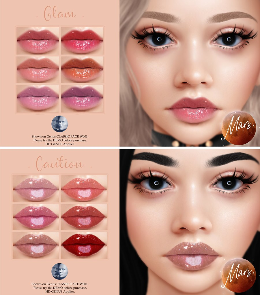.Mars. – Glam & Caution HD Genus Lipsticks