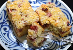 "TODAY AT ""CHEZ BELLA – RHUBARB-CRUMBLE-CAKE ""DISASTER"""