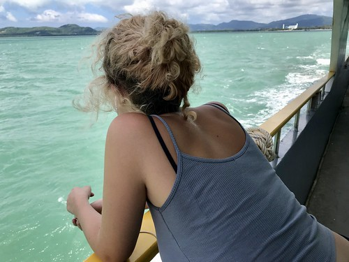 Taking in the view from the ferry to Phi Phi