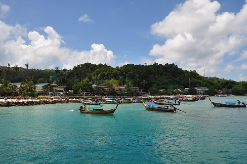 Pulling in to Phi Phi Island