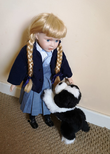 A doll & her pet dog