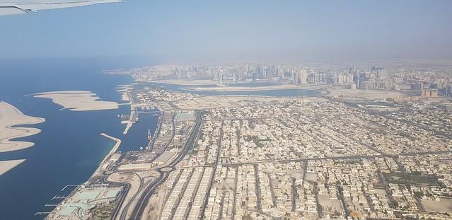 Flying over Dubai