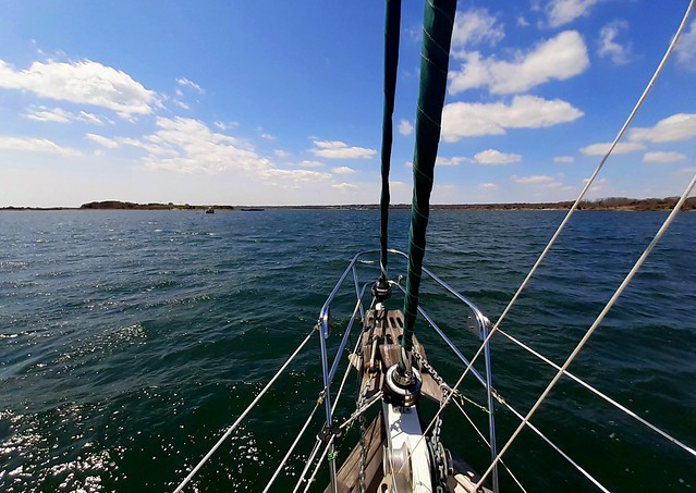 Dutch Island off the starboard bow
