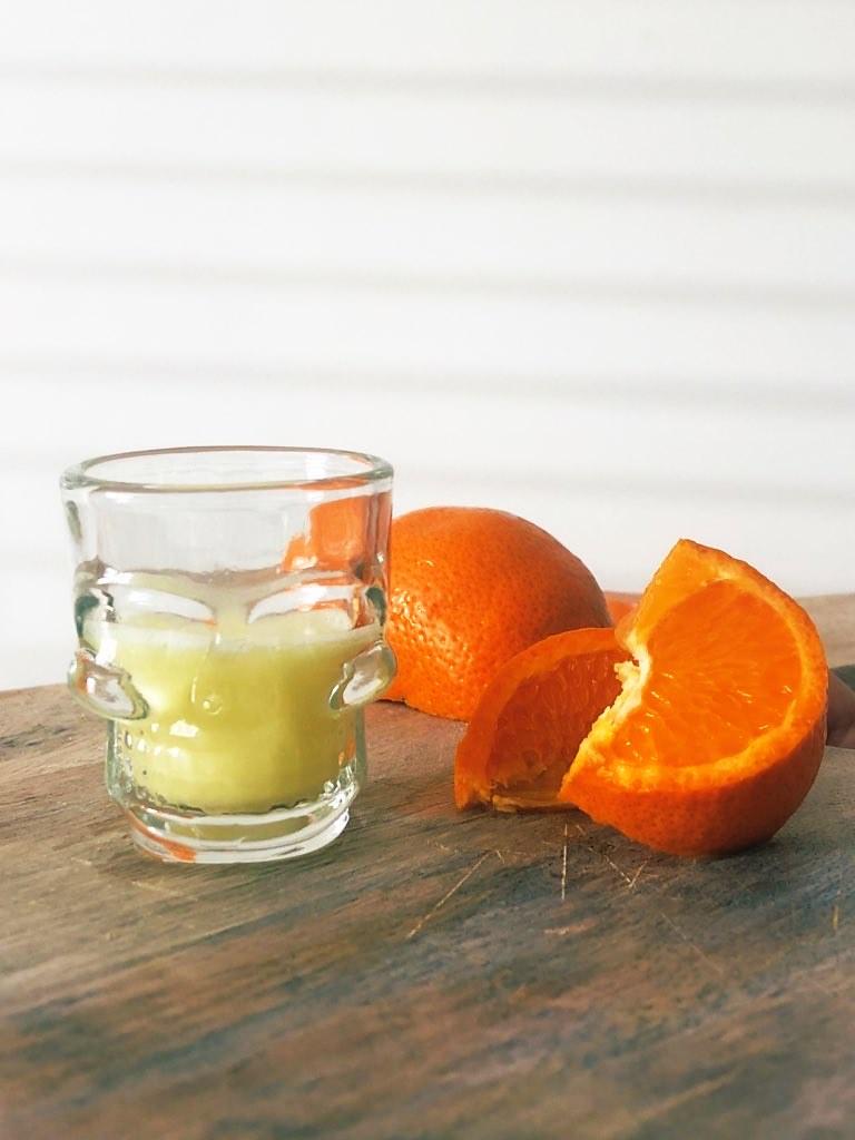 lemon and ginger shots