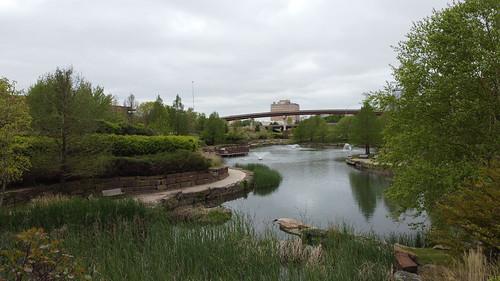 Manic Mini Centennial Park Tulsa drone