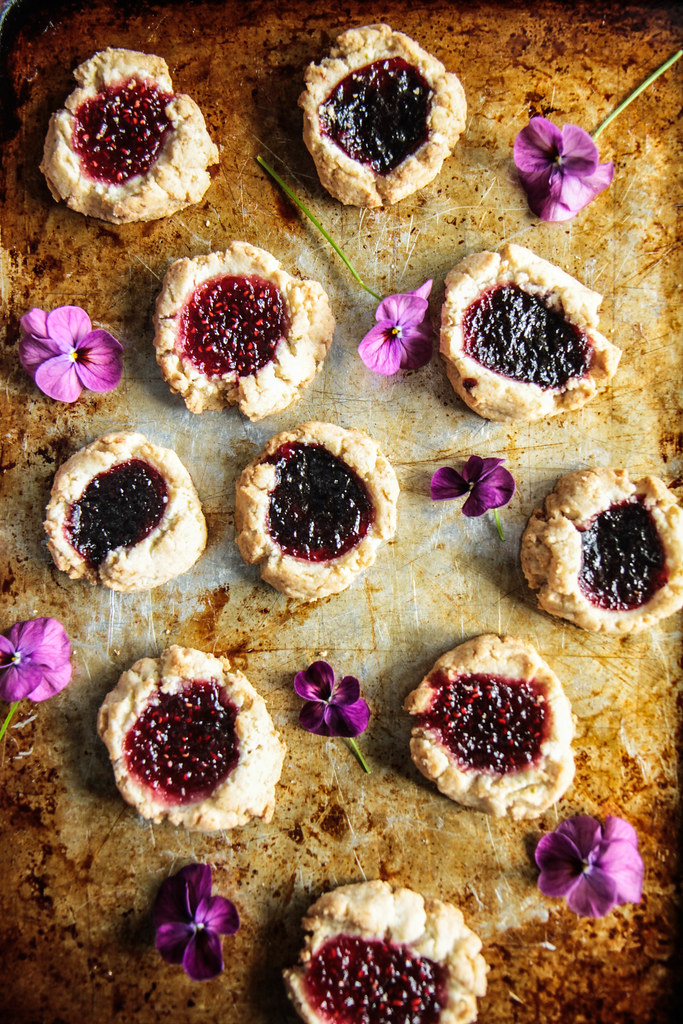 Coconut Lime Thumbprint Cookies (Vegan and Gluten-free) from HeatherChristo.com