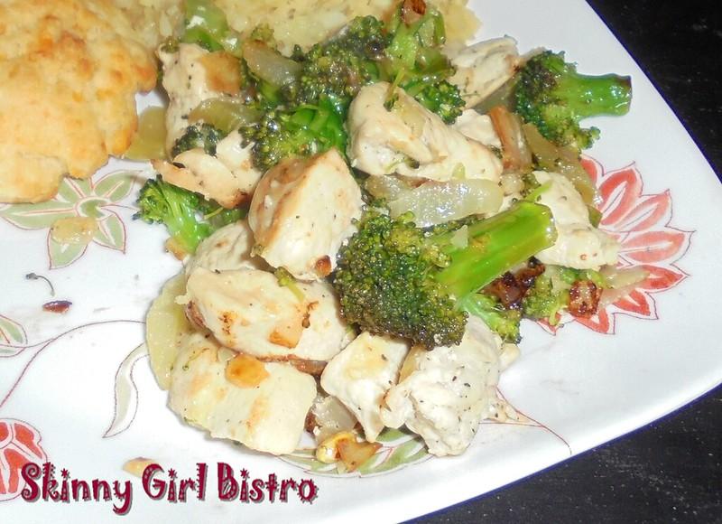 clos up: Chicken with broccoli
