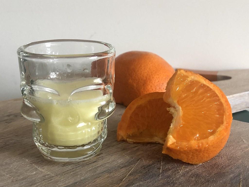 shots of lemon and ginger