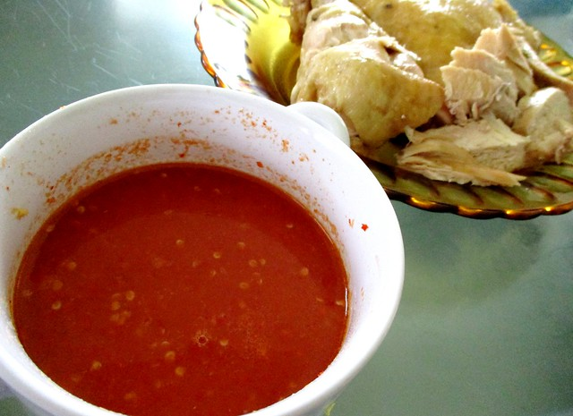 Sepcial chicken rice chili dip