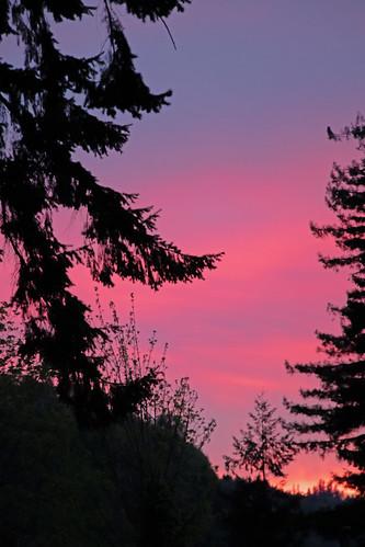 sunset twilight red sky oregon rainieroregon