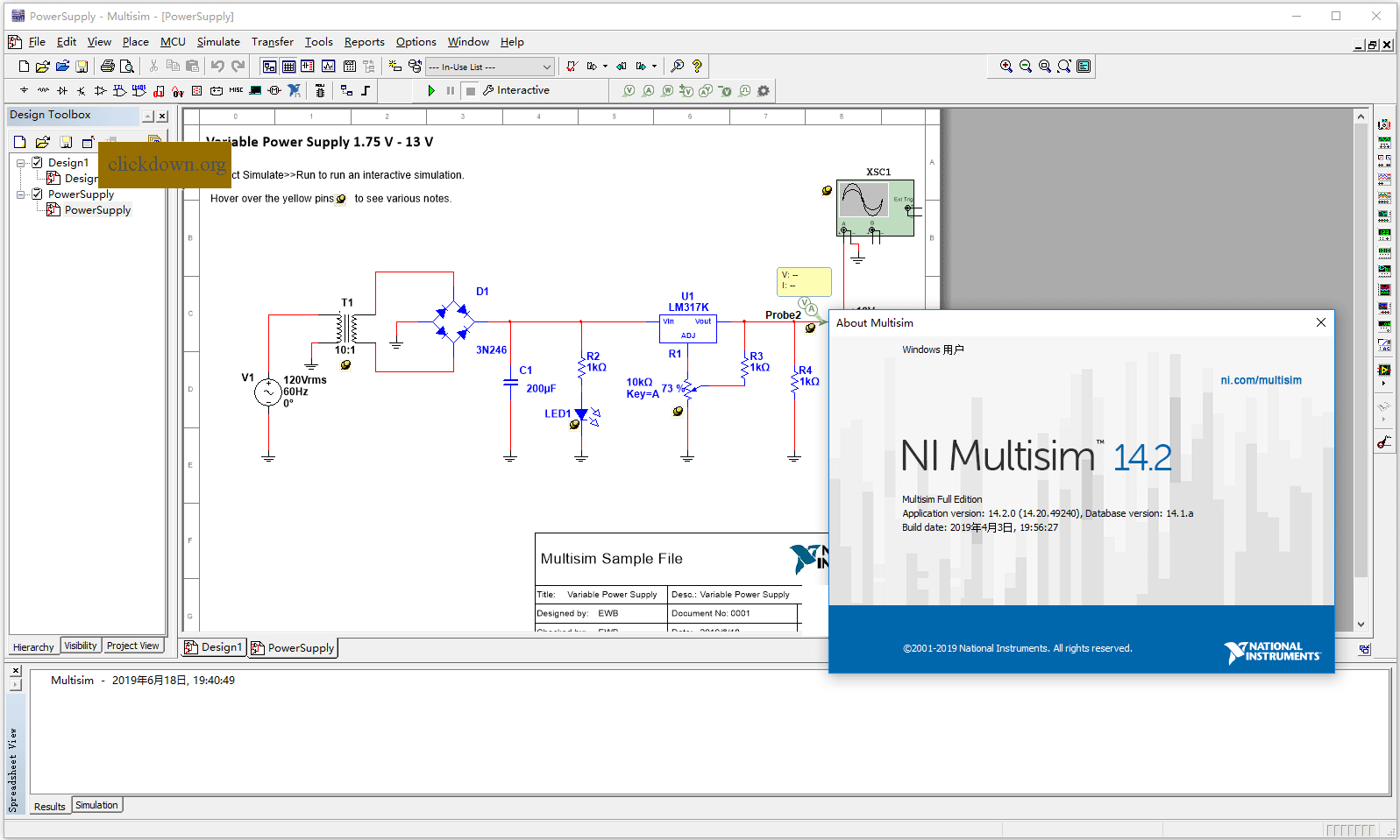Working with NI Circuit Design Suite 14.2 full license