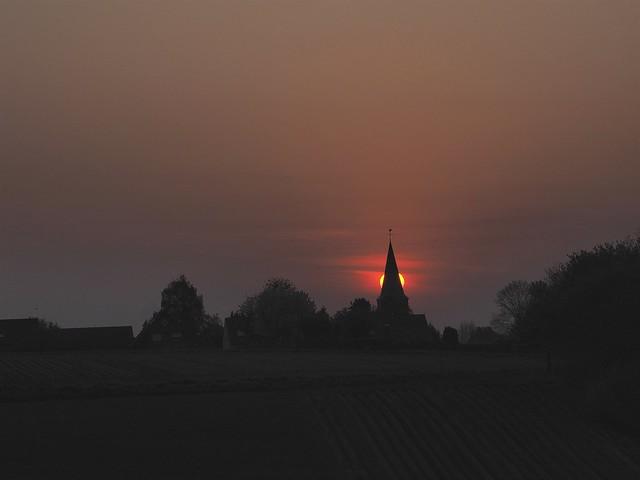 Brennender Kirchturm