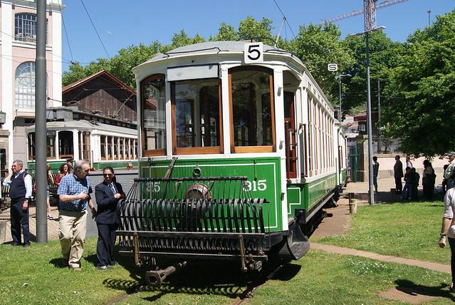 Parade 2014 des Vieux Trams de Porto (Portugal)