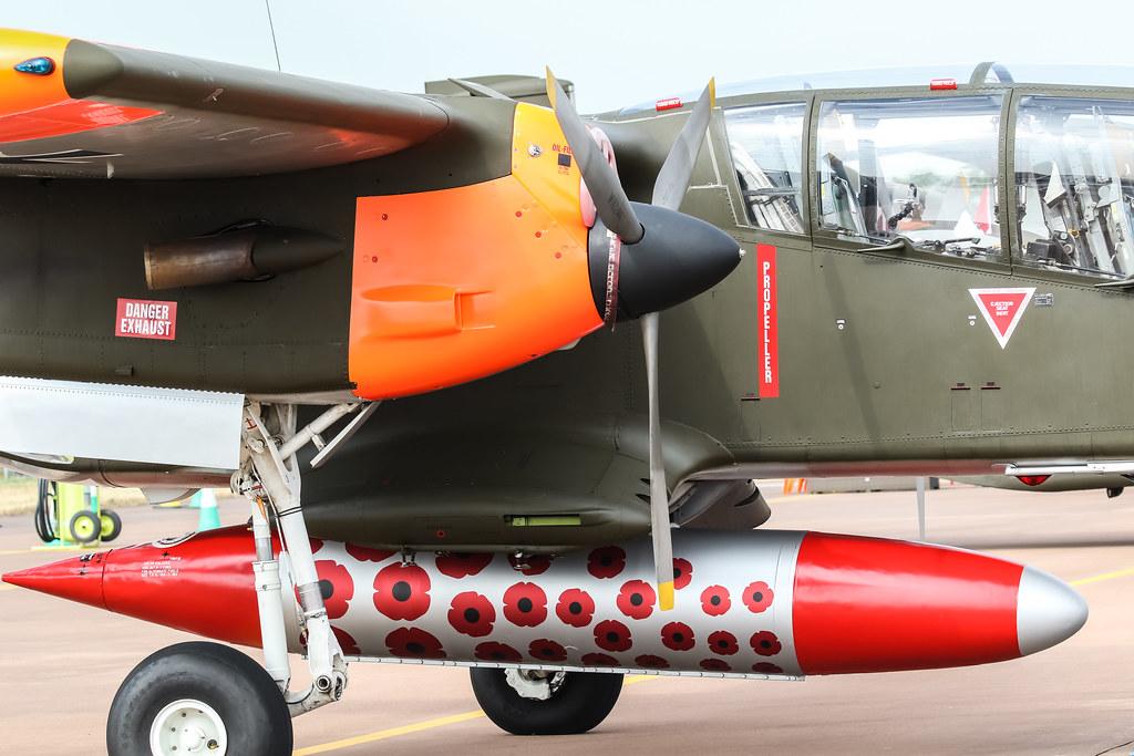 99+18 German Air Force North American OV-10B Bronco RIAT2018 Air Tattoo