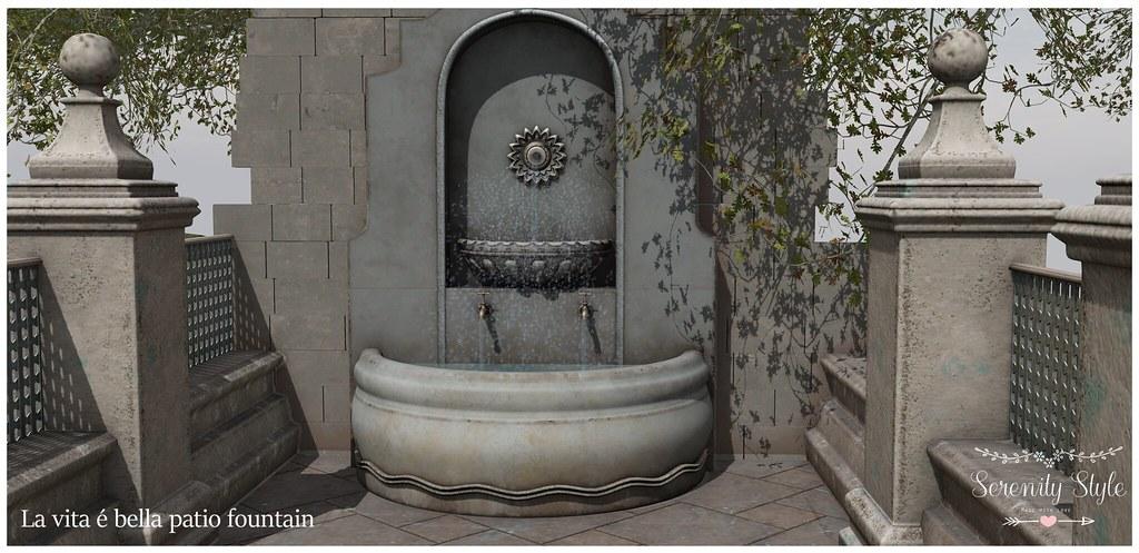 Serenity Style-La vita é bella patio fountain