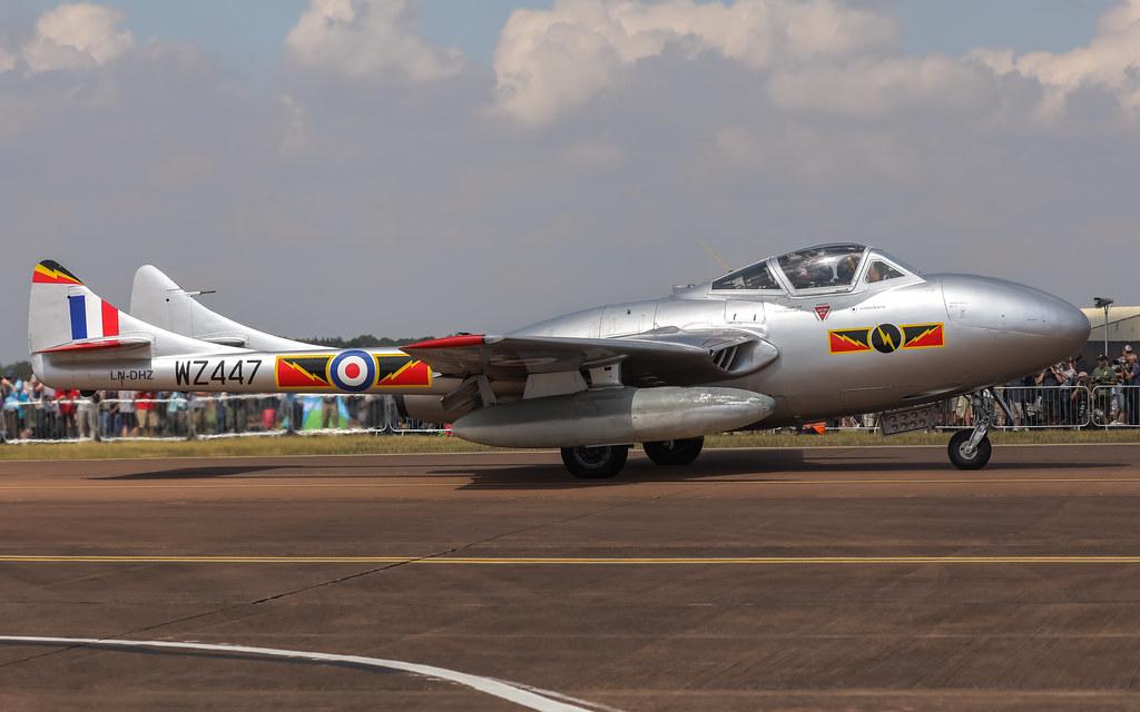 LN-DHZ de Havilland Vampire RIAT2018 Air Tattoo