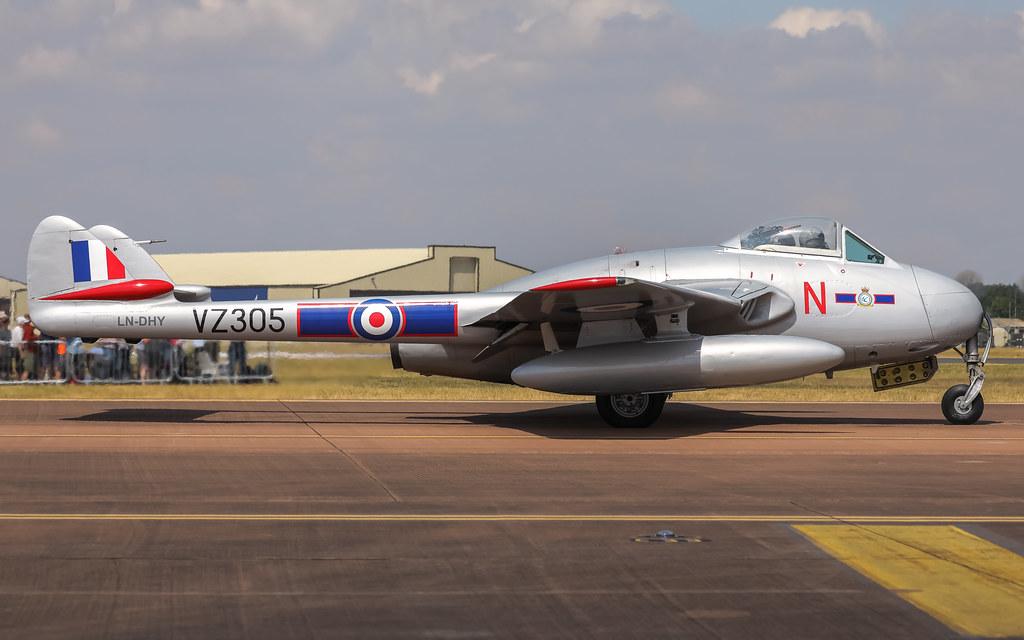LN-DHY de Havilland Vampire RIAT2018 Air Tattoo