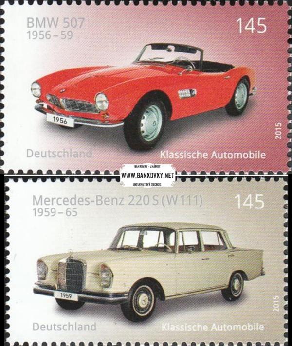 Známky Západné Nemecko 2015 Klasické autá