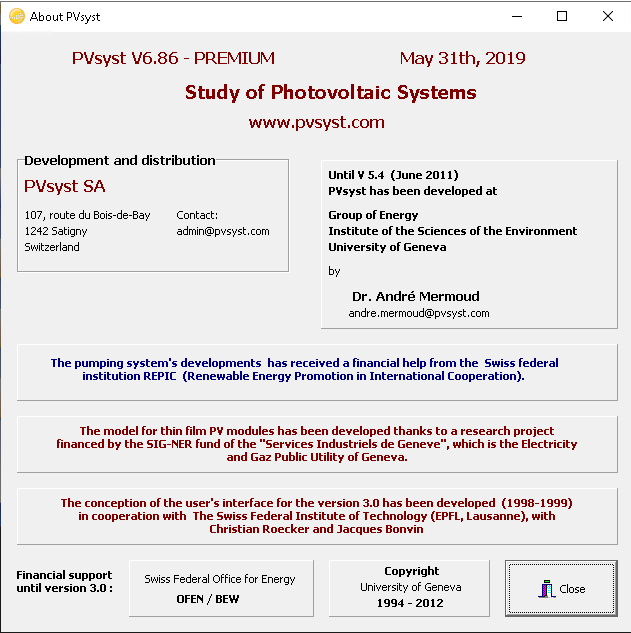 Working with PVSyst 6.86 PREMIUM full license