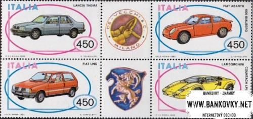 Známky Taliansko 1985 Autá MNH séria 6-blok