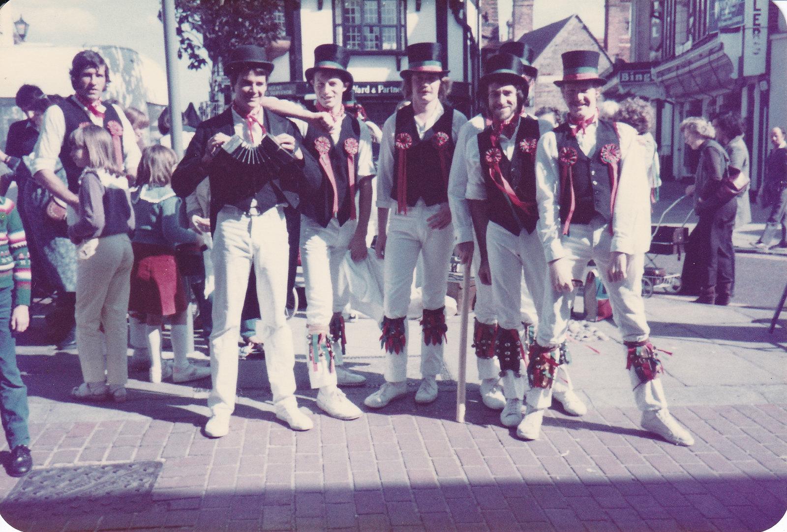 Oyster Morris Squire's Tour, Faversham, 1983