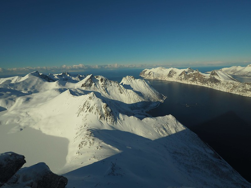 Senja Panorama. Amazing view from the summit of Store Hesten