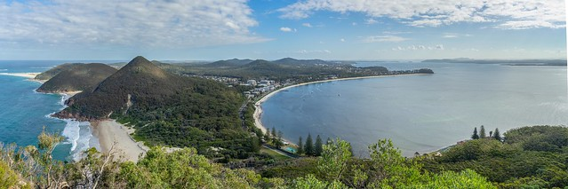 Shoal Bay from Tomaree Mountain, Port Stephens