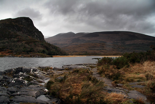mountain nature water rock lake hill river landscape outdoors sky wilderness mountainrange cloud highland bodyofwater outdoor noperson naturallandscape promontory loch countryside killarney kerry ireland ringofkerry