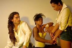 DSC_0717 Alesha from Jamaica Tricia from Ghana and Italian Reggae Guy Photo Shoot Shoreditch Studio London
