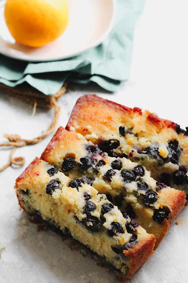 Blueberry Lemon Coconut Loaf Cake