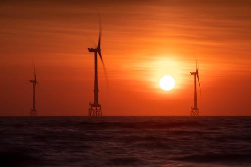aberdeen aberdeenbeach blackdog beechtree windfarm sunrise sunset red sky scotland landscape