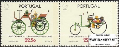 Známky Portugalsko 1986 Počiatky automobilu