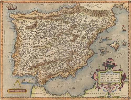 Mapa de España en 1601